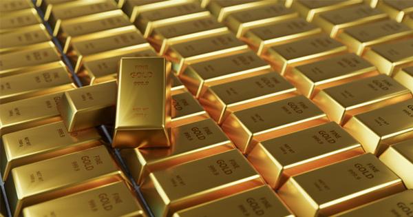 ilustrasi emas batangan