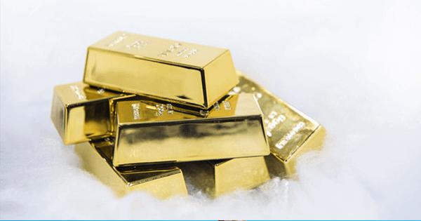 illustrasi emas batangan